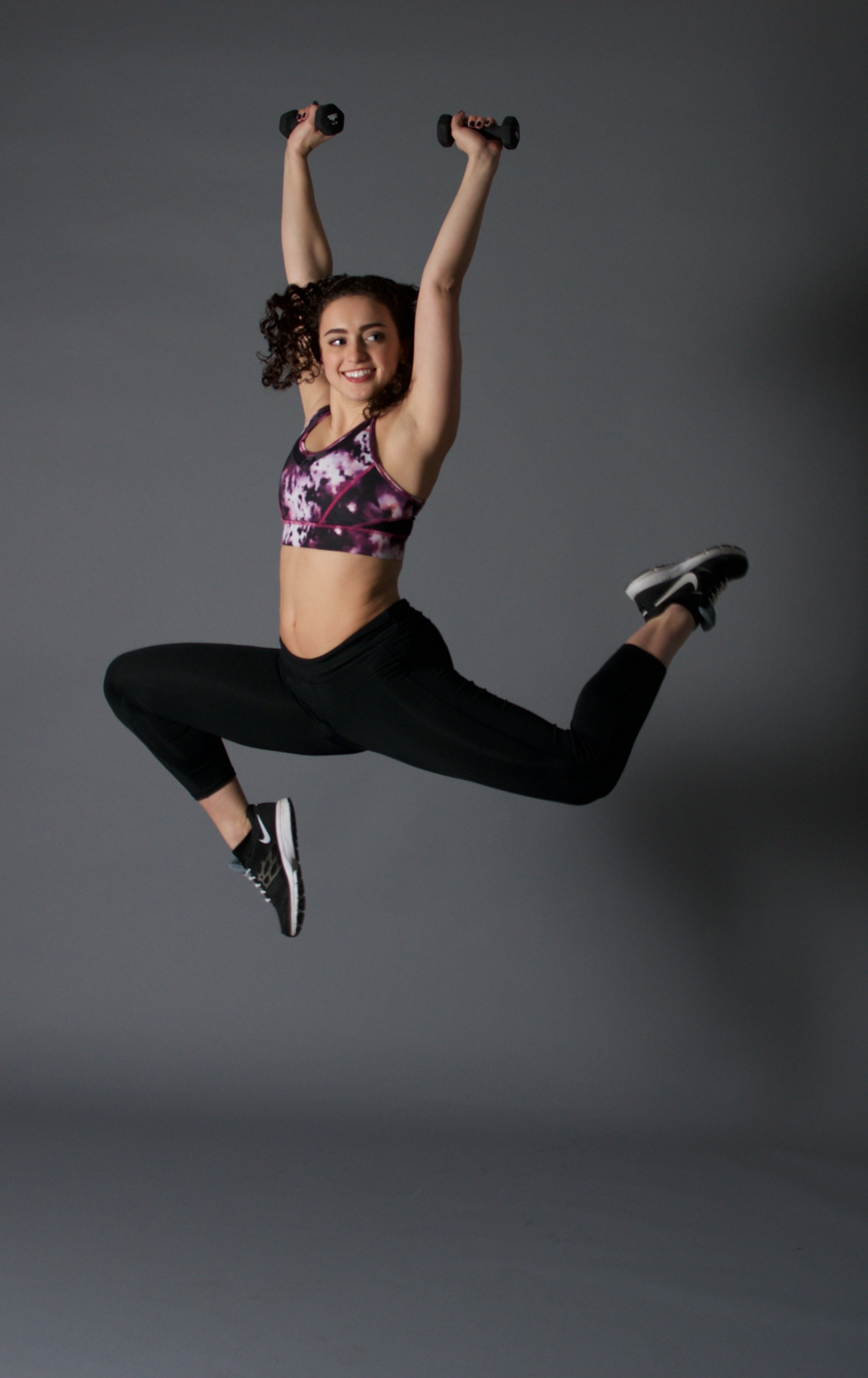 Julia stag leap with weights